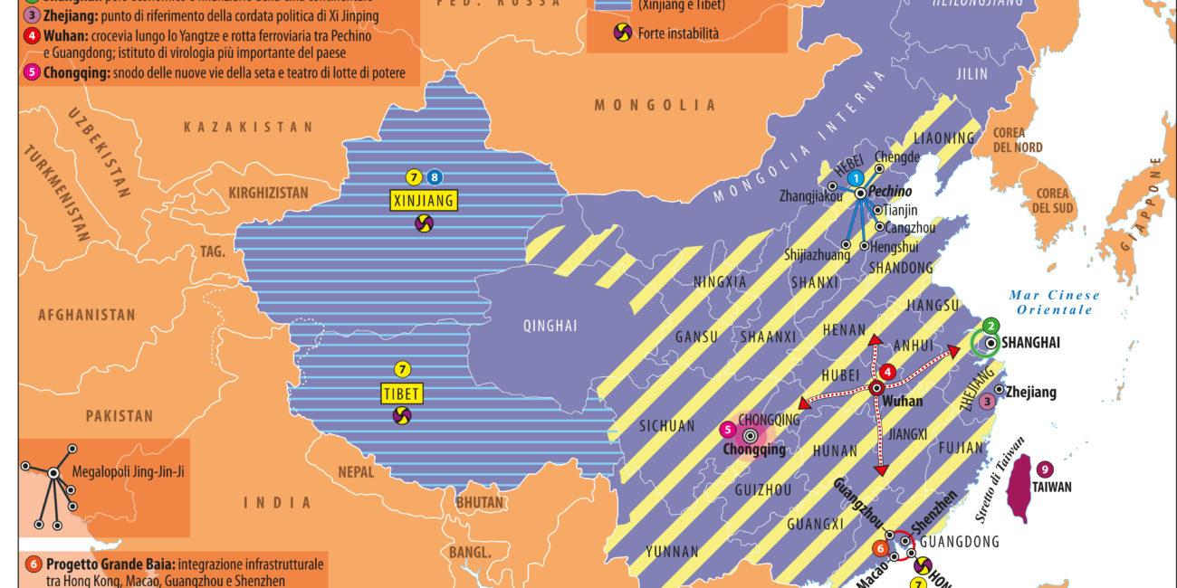 poli geopolitici della Cina